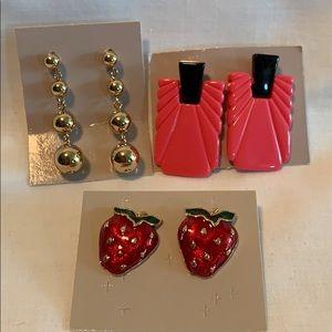 3 pair New vintage Avon earrings.